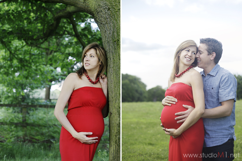 Studio M1; maternity photoshoot London