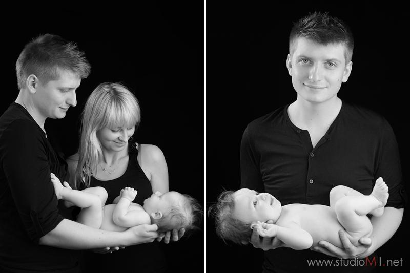 Studio M1; sesja zdjęciowa niemowlęca Wrocław