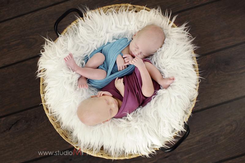 Studio M1 | sesja noworodkowa bliźniaki