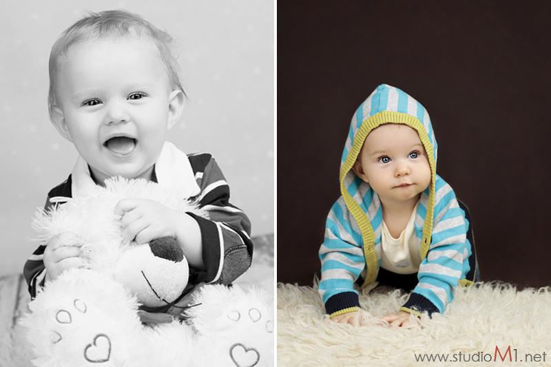 Studio M1; sesja zdjęciowa uśmiechnięte dziecko